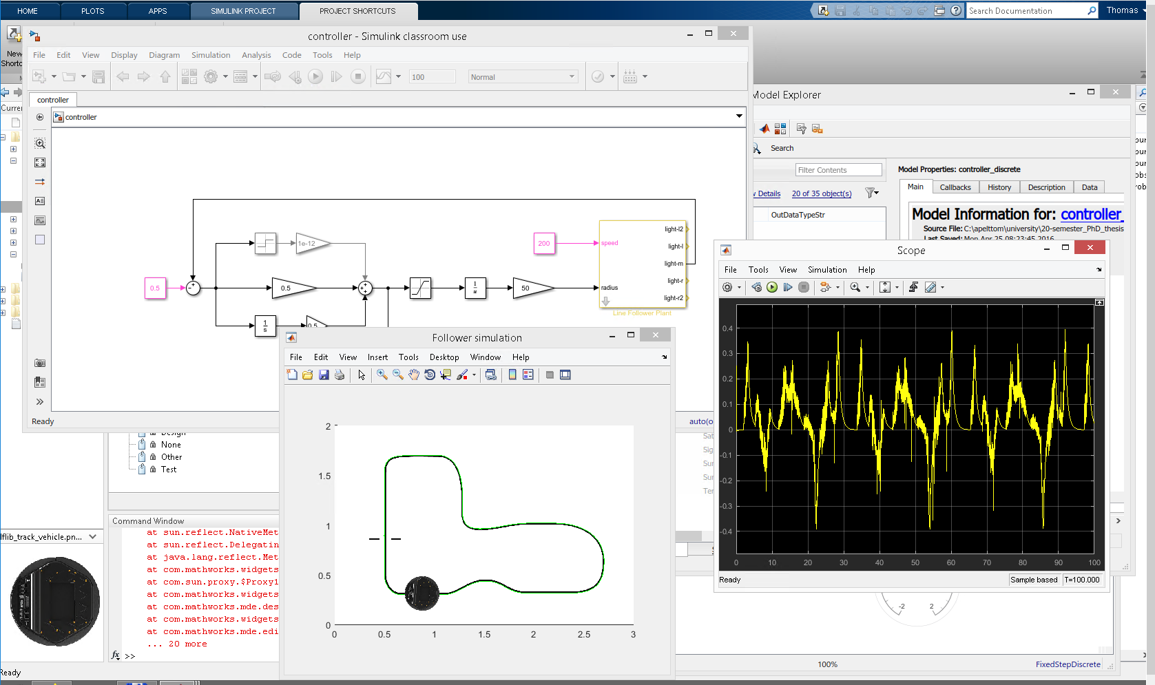 Working with MATLAB/Simulink